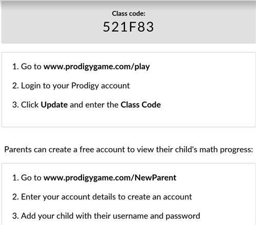 Prodigy Login for 4th grade